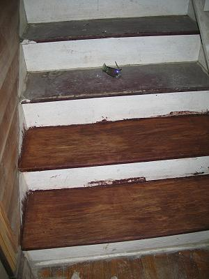 how to paint stairway